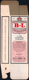 "#CS382 - Group of 12 ""B-L Preparation Intestinal Eliminant"" Medicine Boxes from the WWII Era"