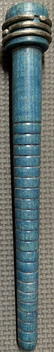 #MS324 - Group of 4 Blue Wooden Pencil Spools