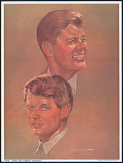 #PL304 - 1965 John and Robert Kennedy Print - Sanger