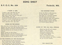 ##MUSICBG0062 - B.P.O.E. (Benevolent and Protective Order of Elks) Song Sheet