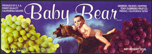 #ZLSG057 - Baby Bear Grape Crate Label