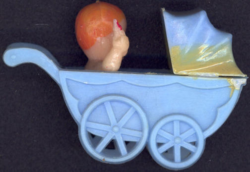 #TY550 - Hard Plastic Baby Carriage with Baby and Bottle