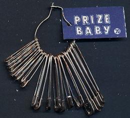 #CS387 - Group of 20 Prize Baby Metal Pins on a Loop
