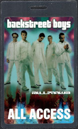 ##MUSICBP00542  - BackStreet Boys All Access Laminated Perri All Access Backstage Pass from the Millennium