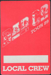 ##MUSICBP0675 - Bad Company OTTO Cloth Backstage Pass from the 1999 Reunion Tour