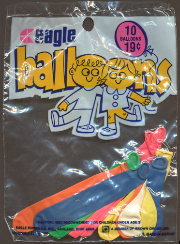 #TY630 - Full Bag of 10 Eagle Rubber Company Balloons