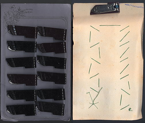 #CS358 - Full Display Card of Larger Deco Dress Clips from the 1920s