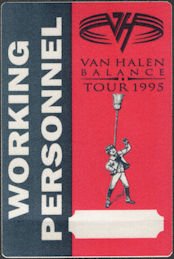 ##MUSICBP0807 - Van Halen OTTO Cloth Working Personnel Pass from the 1995 Balance Tour