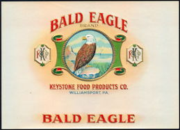 #ZLSC094 - Bald Eagle Inner Cigar Box Label