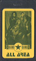 ##MUSICBP0735 - Bang Gang OTTO Laminated Backstage All Area Pass from the 1998 You tour