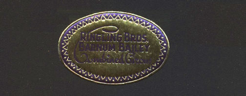 #TY781 - Small very old Ringling Bros. Barnum and Bailey Merchandise Sticker/Label