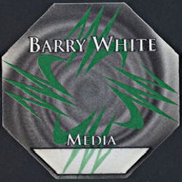 ##MUSICBP0303 - Scarce Barry White PERRi Cloth Backstage Pass from the 1994 Icon Tour