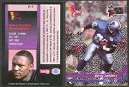 #ZZA199 - 1992 Barry Sanders Wild Card Stat Smashers Promo Card