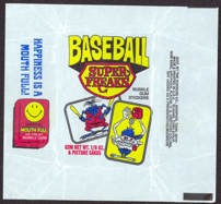 #ZZA227 - Uncommon Baseball Super Freaks Card Pack Wrapper