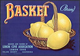 #ZLC445 - Basket Brand Lemon Crate Label