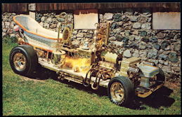 #CA511 - 1960s Bathtub Buggy by Barris Postcard