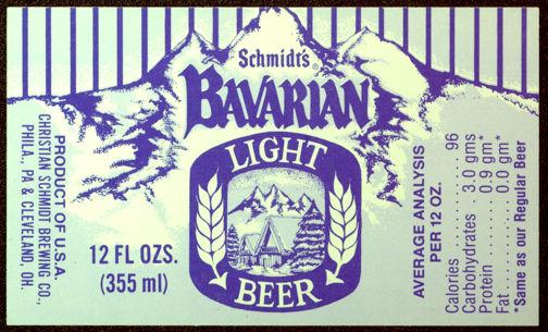 #ZLBE060 - Bavarian Light Beer Label