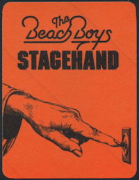 ##MUSICBP0331 - The Beach Boys Cloth Stagehand Backstage Pass from the 1987 Tour