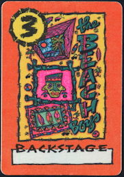 ##MUSICBP0403 - Beach Boys Cloth Backstage Pass from the 1988 This Whole World Tour