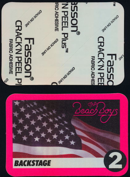 ##MUSICBP0377 - Beach Boys Cloth Backstage Pass from the Summer of 1995 Tour