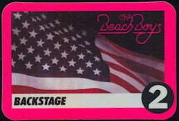 ##MUSICBP0417 - Beach Boys Cloth Backstage Pass from the Summer of 1995 Tour