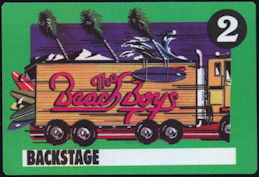 ##MUSICBP0395 - Beach Boys Cloth Backstage Pass from the 1989 Beachago Tour