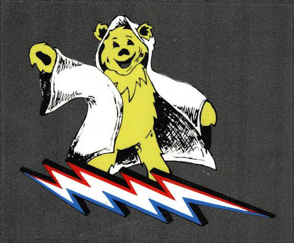 ##MUSICBP2033 - Grateful Dead Car Window Tour Sticker/Decal - Grateful Dead Bear Riding a Lightning Bolt
