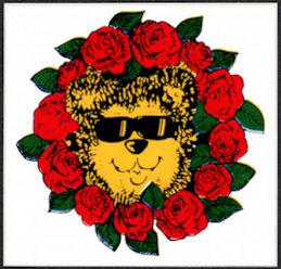##MUSICBP2016 - Grateful Dead Tour Sticker/Decal - Grateful Dead Bear in a Wreath of Roses