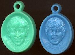 ##MUSICBG0069  - Pair of Beatles Vending Charms - John Lennon and Paul McCartney