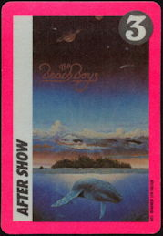 ##MUSICBP0453 - Beach Boys Cloth After Show Backstage Pass from the 1990 Still Cruisin' Tour