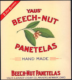 #ZLSC103 - Yaus' Beech-Nut Panatelas Inner Cigar Box Label