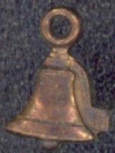 #BEADSC0082 - Copper Bell Charm - Flat Bell