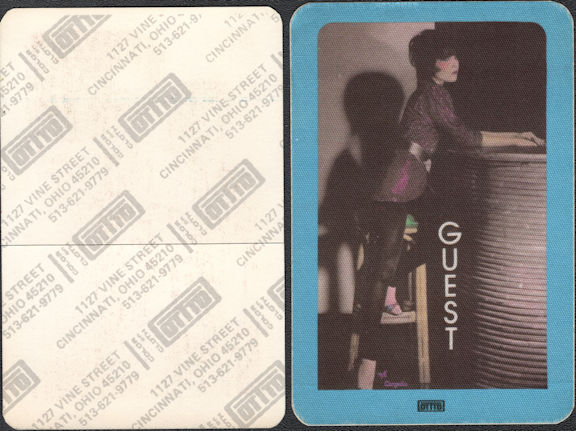 ##MUSICBP0639  - Pat Benatar OTTO Cloth Backstage Guest Pass from the In the Heat of the Night and Crimes of Passion Tour