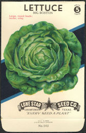 #CE059 - Big Boston Lettuce Lone Star 5¢ Seed Pack