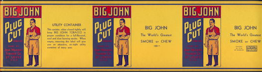#ZLT038 - Very Large Rare Version Triple Image Big John Cut Plug Can Label