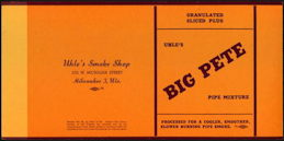 #ZLT039 - Big Pete Pipe Mixture Tobacco Box Label