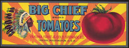 #ZLCA*014 - Big Chief Tomatoes Crate Label