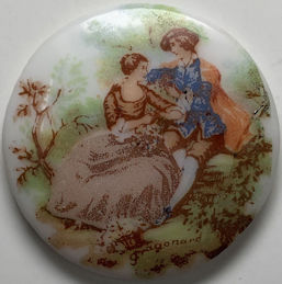 #BEADS0929 - Very Large 35mm Cameo Featuring a Jean-Honoré Fragonard Painting