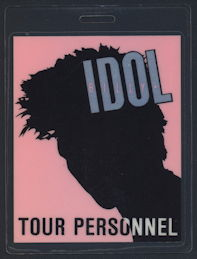 ##MUSICBP0179 - Billy Idol Laminated Tour Personnel OTTO Backstage Pass from the 1987/88 World Tour