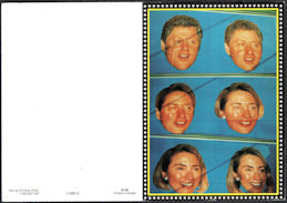 #PL195 - Group of 4 Bill Clinton Morphing into Hillary Greeting Cards