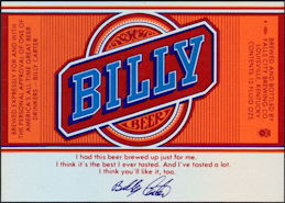 #ZLBE112 - Billy Beer Bottle Label - Jimmy Carter's Brother