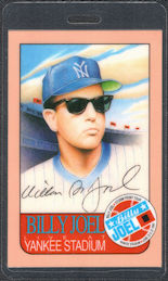 ##MUSICBP0388  - 1989-91 Billy Joel OTTO Laminated Backstage Pass from the Storm Front Tour