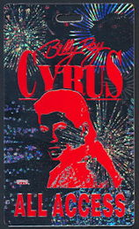 ##MUSICBP0301 - Billy Ray Cyrus OTTO Hard Plastic Backstage Pass from the 2013 Tour - Only known examples