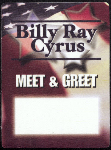 ##MUSICBP0007 - Billy Ray Cyrus Cloth OTTO Backstage Pass from the Some Gave All Tour