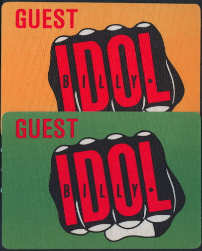 ##MUSICBP0267  - BIlly Idol OTTO Cloth Backstage Pass from the 1986 Whiplash Smile Tour - As low as $3 each