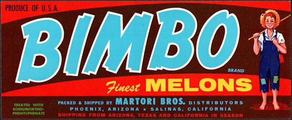 #ZLCA*068 - Bimbo Melons Crate Label - Boy Fishing