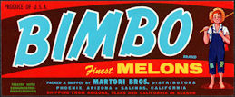 #ZLCA*068 - Bimbo Melons Crate Label - Boy Fishing