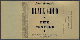 #ZLT033 - John Weisert's Black Gold Smoking Mixture Tobacco Box Label - As low as 35¢ each
