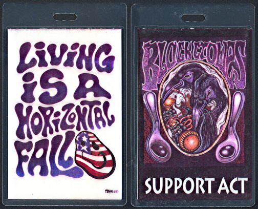 ##MUSICBP0344  - Black Crowes Support Act Laminated Perri Backstage Pass from The Living is a Horizontal Fall Tour