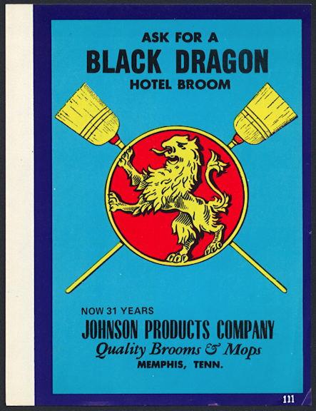 #ZLB043 - Black Dragon Broom Label